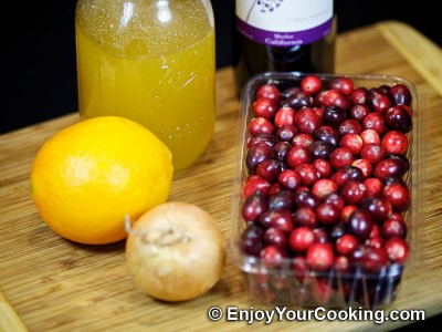 Cranberry Sauce for Meat Recipe: Step 1