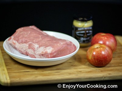 Pork Roast with Apples and Mustard Recipe: Step 1