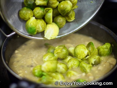 Brussel Sprouts with Mushrooms and Onions Recipe: Step 11