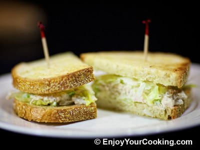 Chicken and Celery Salad Sandwich