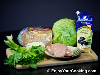 Chicken and Celery Salad Sandwich Recipe: Step 1
