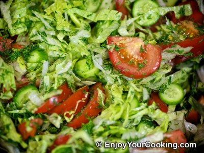 Lettuce, Tomato and Cucumber Salad Recipe: Step 6