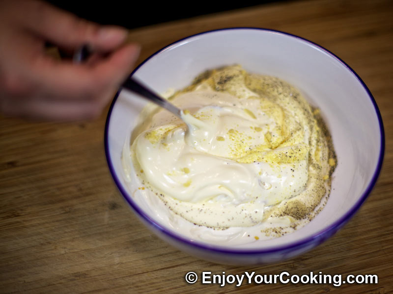 Blue Cheese Dip Recipe: Step 3 Ground black pepper, mustard powder ...