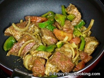 Beef Gyros with Vegetables and Spices Recipe: Step 11