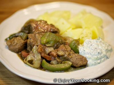 Beef Gyros with Vegetables and Spices Recipe: Step 12