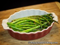 Asparagus Fried with Butter and Garlic Recipe