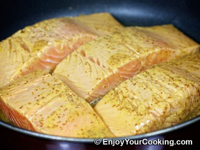 Salmon in Mustard, Lemon Juice and Soy Sauce Marinade Recipe: Step 10