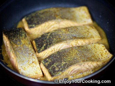 Salmon in Mustard, Lemon Juice and Soy Sauce Marinade Recipe: Step 11