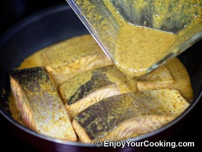 Salmon in Mustard, Lemon Juice and Soy Sauce Marinade Recipe: Step 12