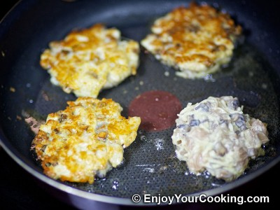Chicken Cutlets with Mushroom and Cheese Recipe: Step 14