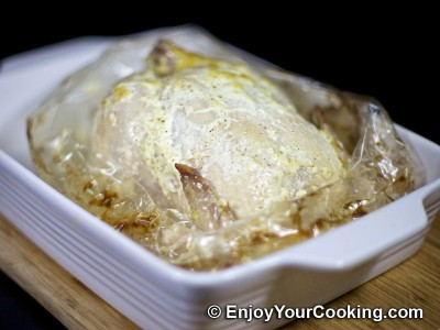 Whole Roasted Chicken with Mayo and Garlic Recipe: Step 7