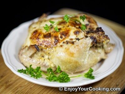 Whole Roasted Chicken with Mayo and Garlic Recipe: Step 9