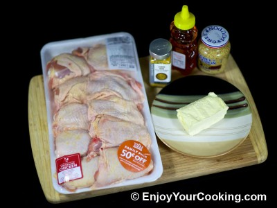 Chicken with Mustard, Honey and Curry Recipe: Step 1