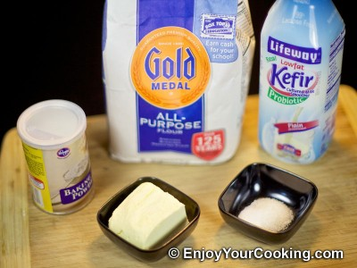 Flaky Kefir Biscuits Recipe: Step 1