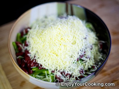 Crab Sticks, Beans, Tomato, Bell Pepper and Cheese Salad Recipe: Step 5