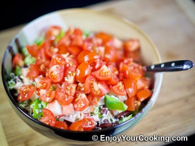 Crab Sticks, Beans, Tomato, Bell Pepper and Cheese Salad Recipe: Step 7