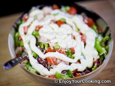 Crab Sticks, Beans, Tomato, Bell Pepper and Cheese Salad Recipe: Step 8