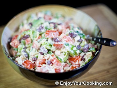 Crab Sticks, Beans, Tomato, Bell Pepper and Cheese Salad Recipe: Step 9