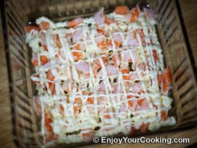 Shrimp, Egg and Potato Layered Salad Recipe: Step 8