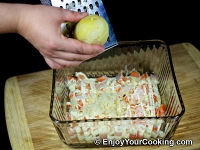 Shrimp, Egg and Potato Layered Salad Recipe: Step 9