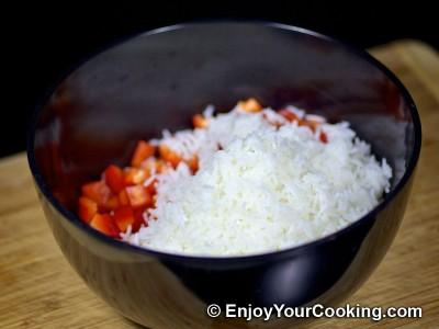 Shrimps, Mushroom and Rice Salad  Recipe: Step 6
