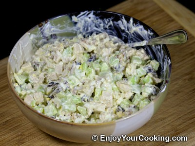 Chicken, Prunes and Cucumber Salad Recipe: Step 9