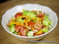Raw Vegetable Salad with Feta Recipe