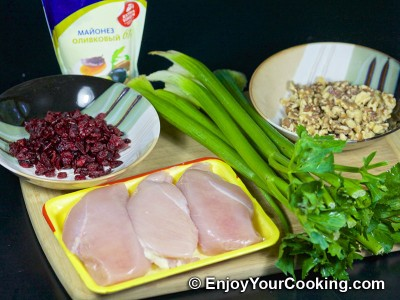 Walnut Cranberry Chicken Salad Recipe: Step 1
