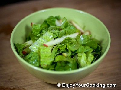 Apple, Sorrel and Lettuce Salad