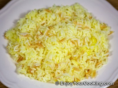Boiled Rice with Orzo