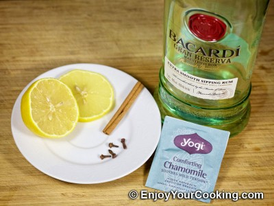 Hot Camomile Tea with Rum Recipe: Step 1