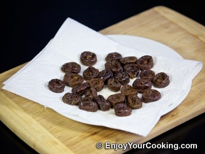 Pecan Stuffed Prunes with Whipped Cream: Step 3