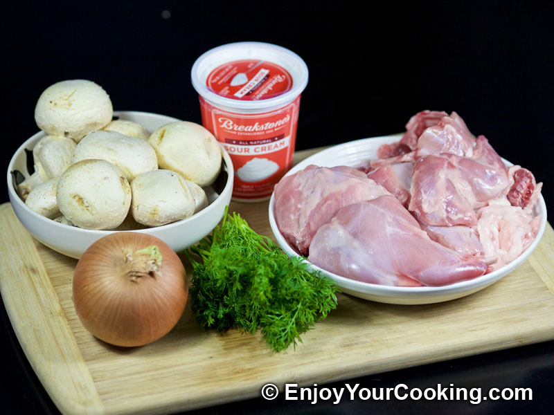 Rabbit Stew with Mushrooms and Sour Cream | Recipe | My ...