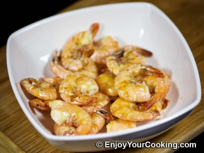 Recipe for Simple Fried Shrimps: Step 7