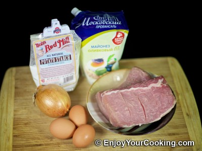 Recipe for Chopped Pork and Onion Rissoles: Step 1