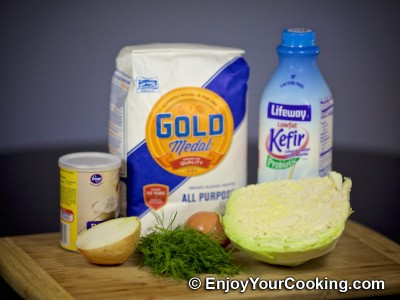 Recipe for Cabbage Pancakes: Step 1