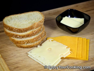 Grilled Cheese Sandwich Recipe: Step 1