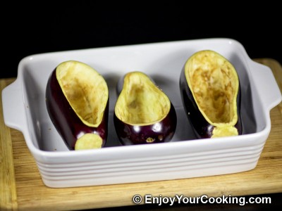 Meat Stuffed Eggplants Recipe: Step 3a