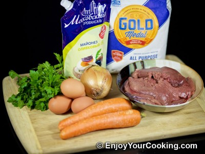 Liver, Carrot and Egg Salad Recipe: Step 1