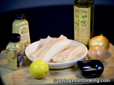 Baked Cod in Mustard and Lemon Marinade: Step 1