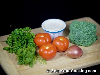 Raw Broccoli and Tomato Salad: Step 1