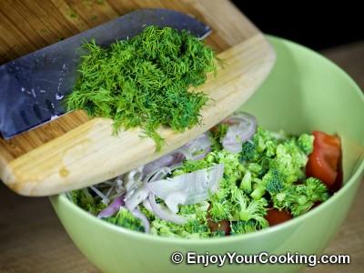 Raw Broccoli and Tomato Salad: Step 5