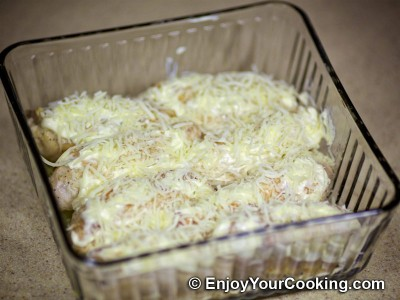Baked Chicken Rolls with Cheese and Butter: Step 9