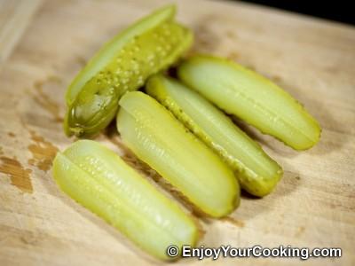 Deep Fried Pork Rolls with Pickles: Step 3