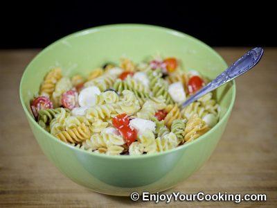 Салат с макаронами, помидорами и свежей моцареллой: Шаг 7