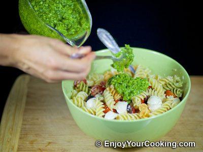 Салат с макаронами, помидорами и свежей моцареллой: Шаг 9