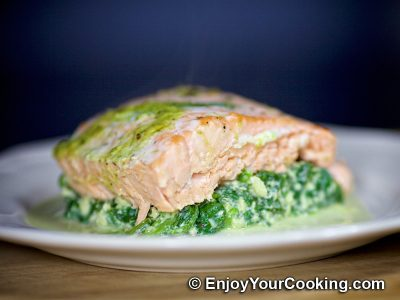 Creamy Spinach with Eggs: Step 12