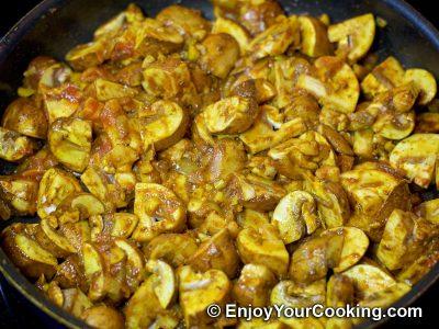 Mushroom Curry: Step 9