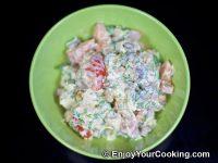 Chicken, Tomato and Mushroom Salad