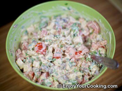 Chicken, Tomato and Mushroom Salad: Step 13